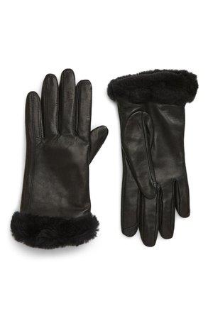 UGG® Genuine Shearling Leather Tech Gloves | Nordstrom