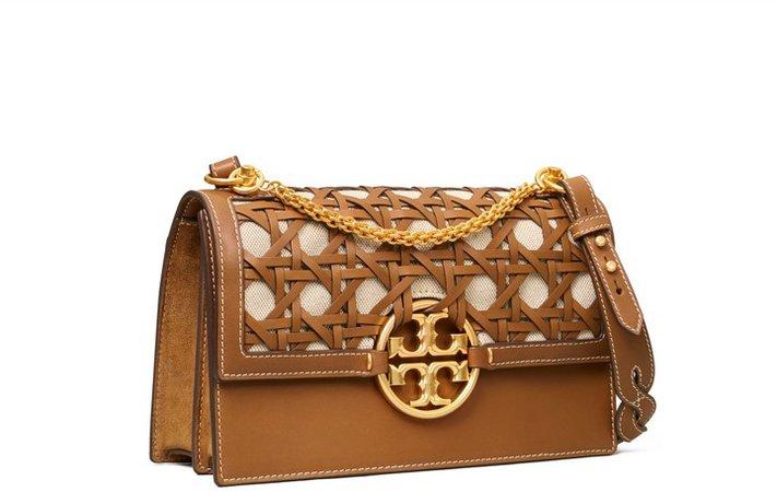 Miller Basket-Weave Shoulder Bag