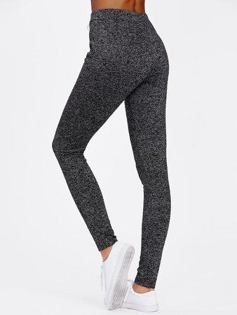 SheIn Drawstring Waist Skinny Leggings