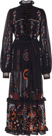 Etro Tiered Silk Dress Size: 38