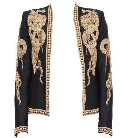 Balmain Gold Dragon Embellished Blazer