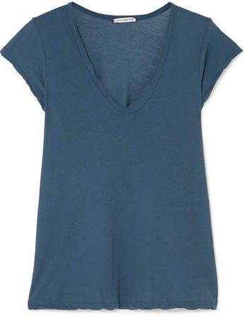 Cotton-jersey T-shirt - Teal
