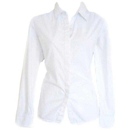 Lauren Ralph Lauren White Button Up Shirt Button-down Top Size 10 (M) - Tradesy