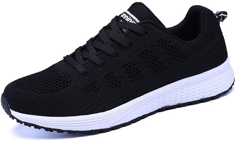 Amazon.com | PAMRAY Women's Running Shoes Tennis Athletic Jogging Sport Walking Sneakers Gym Fitness Golf Black 38 | Walking