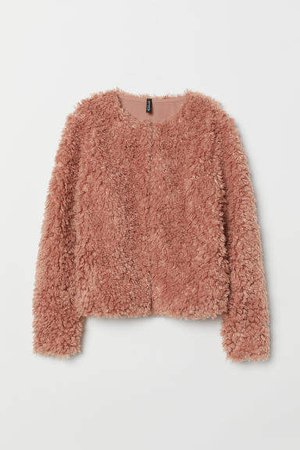 Faux Fur Jacket - Orange