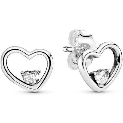 silver heart earrings - Google Search