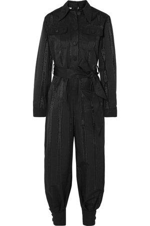 Gucci | Belted moire jumpsuit | NET-A-PORTER.COM