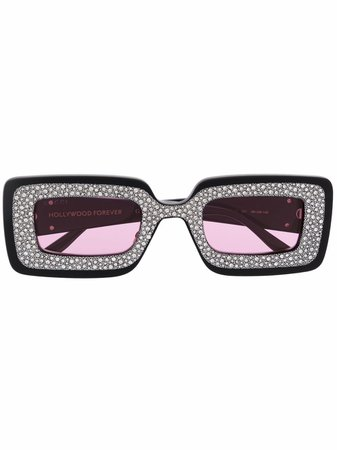 Gucci Eyewear Rektangulära Solglasögon Med Strass - Farfetch