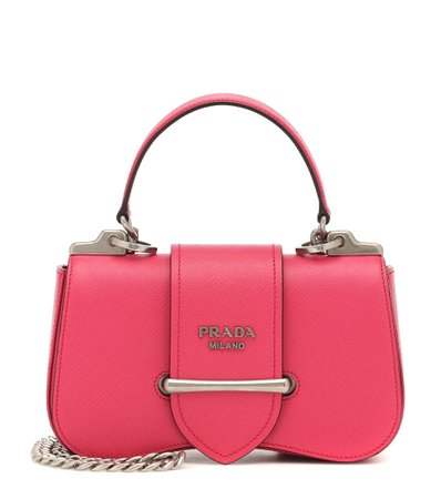 Sidonie Small Leather Shoulder Bag - Prada | Mytheresa