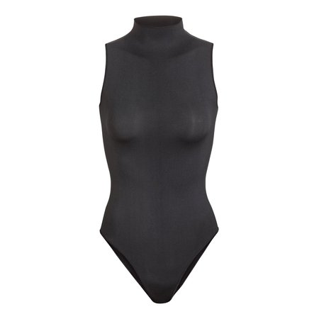 Sleeveless Mock Neck Bodysuit - Sandstone | SKIMS