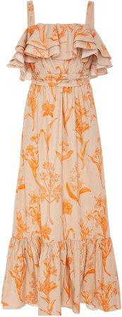 Tropical Wave Cotton Poplin Dress