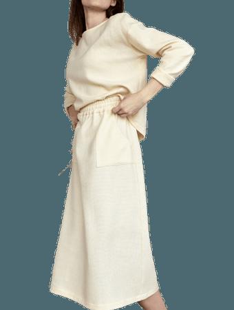 Cashmere suit skirt