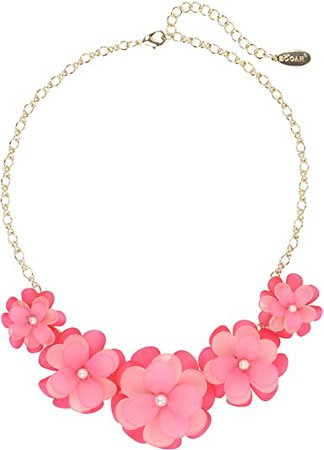 Amazon.com: BOCAR Newest Acrylic Pendant Collar Flower Statement Choker Necklace for Women (NK-10241-red): Clothing