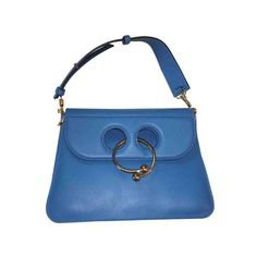 (1) Pinterest - j.w. anderson blue leather pierce handbag ❤ liked on Polyvore featuring bags, handbags, leather man bags, leather purses, real leather ha | png