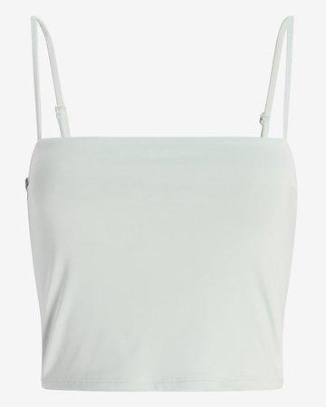 Body Contour Cropped Square Neck Cami | Express