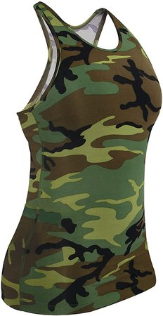 Amazon.com: Rothco Womens Camo Workout Performance Tank Top: Clothing
