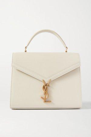 Cassandra Medium Textured-leather Tote - Off-white