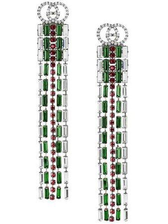 Gucci Crystal Web Drop Earrings - Farfetch