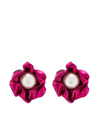 Sterling King Titania pearl earrings - FARFETCH