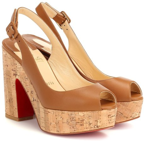 Dona Anna leather platform sandals