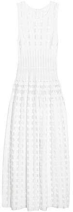 Laser-cut Knitted Maxi Dress