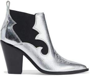 Kaleb Metallic Textured-leather Ankle Boots
