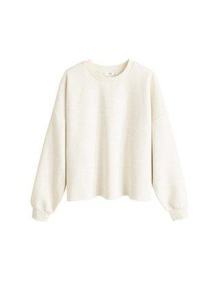 MANGO Flecked crop sweatshirt