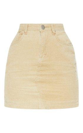 Yellow Jumbo Cord Skirt | PrettyLittleThing USA