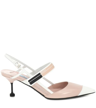 Leather Slingback Pumps | Prada - Mytheresa