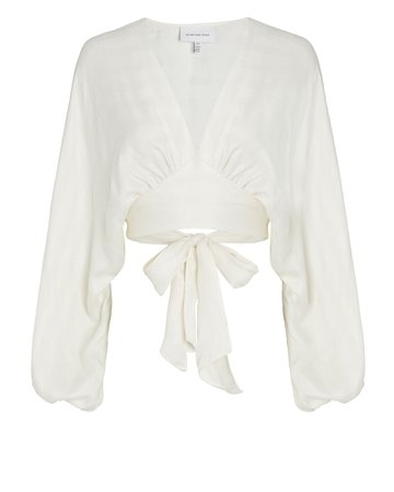 Significant Other | Voyager Striped Wrap Blouse | INTERMIX®