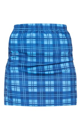Bright Blue Check Mini Skirt | PrettyLittleThing USA