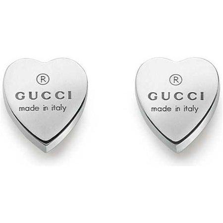 Gucci Heart-motif sterling silver stud earrings