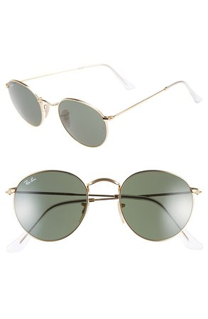 Ray-Ban Icons 50mm Round Metal Sunglasses | Nordstrom