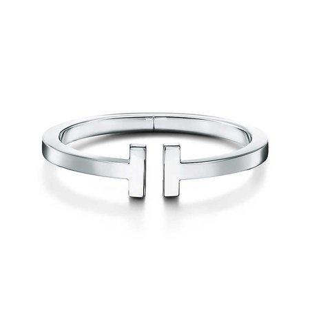 Tiffany T square bracelet in sterling silver, medium. | Tiffany & Co.