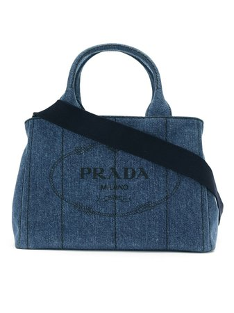 Blue Prada denim 2way bag - Farfetch