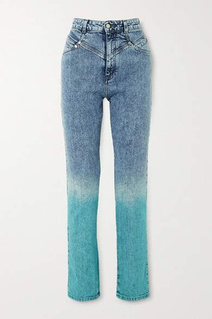 Degrade High-rise Straight-leg Jeans - Blue