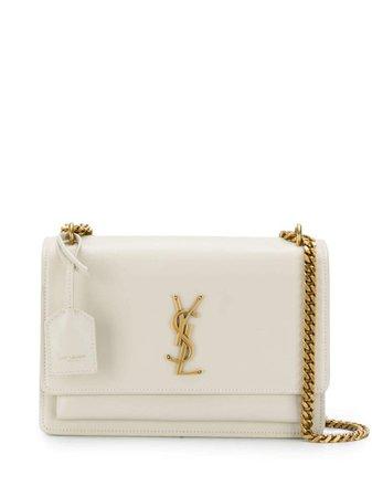 Shop Saint Laurent Sunset logo shoulder bag with Express Delivery - Farfetch
