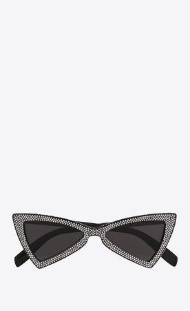 Saint Laurent NEW WAVE 207 JERRY Sunglasses In Black  | YSL.com