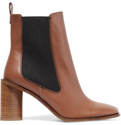 Bethany Leather Ankle Boots - Tan