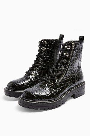 KIKI Lace Up Boots | Topshop