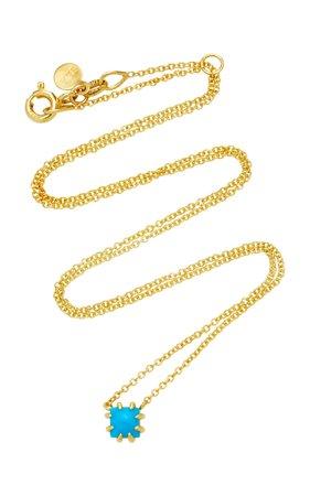 ILA Javina 14K Gold Turquoise Necklace