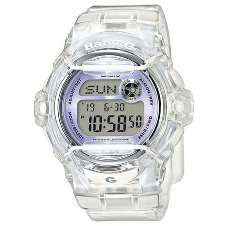 Amazon.com: Casio Baby-G BG169R-7E Semi-Transparent Women's Sports Watch (Purple/Clear): Casio - Baby-G: Watches