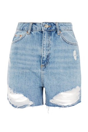 TALL Mid Blue Mom Shorts | Topshop