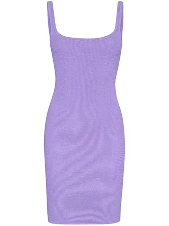 Shop purple Hunza G fitted tank mini dress with Express Delivery - Farfetch