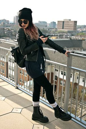 korean laced up combat boots outfit with shorts - Google Search