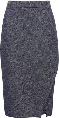 Wrap Effect Pencil Skirt