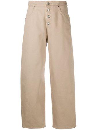 MM6 Maison Margiela Cropped high-waisted Jeans - Farfetch
