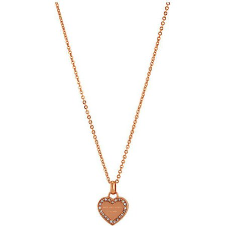 michael kors gold heart necklace - Google Search