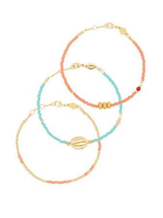 Anni Lu Wave Chaser 18kt gold-plated Bracelet Set - Farfetch