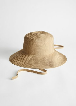 Ribbon Bucket Hat - Beige - Hats - & Other Stories